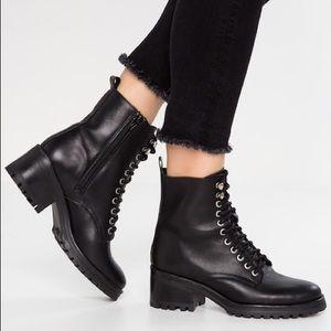 3a74d734d1b Steve Madden Shoes - NWT STEVE MADDEN GRID COMBAT LACE BOOTS